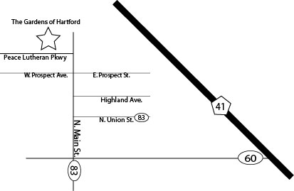 directions to The Gardens of Hartford