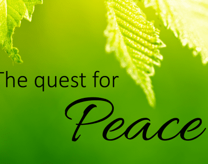The Quest for Peace: Prayer, Scripture Meditation, and Gratitude