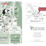 Map of Bethany Lutheran College clinic location