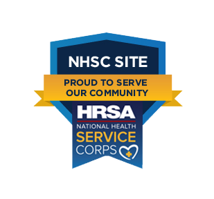 NHSC Site logo, proud to serve our community in verification of our day treatment services